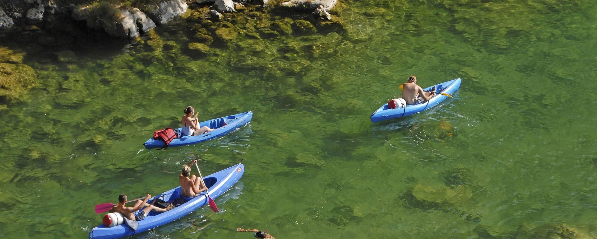 Descente en canoë dans les Gorges du Tarn