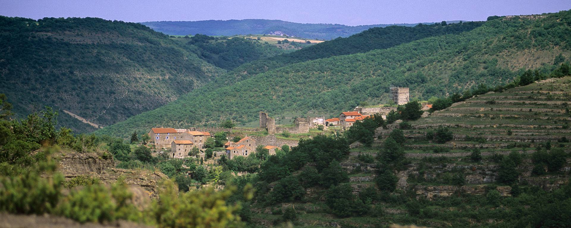 Auriac dans la vallée du Tarn