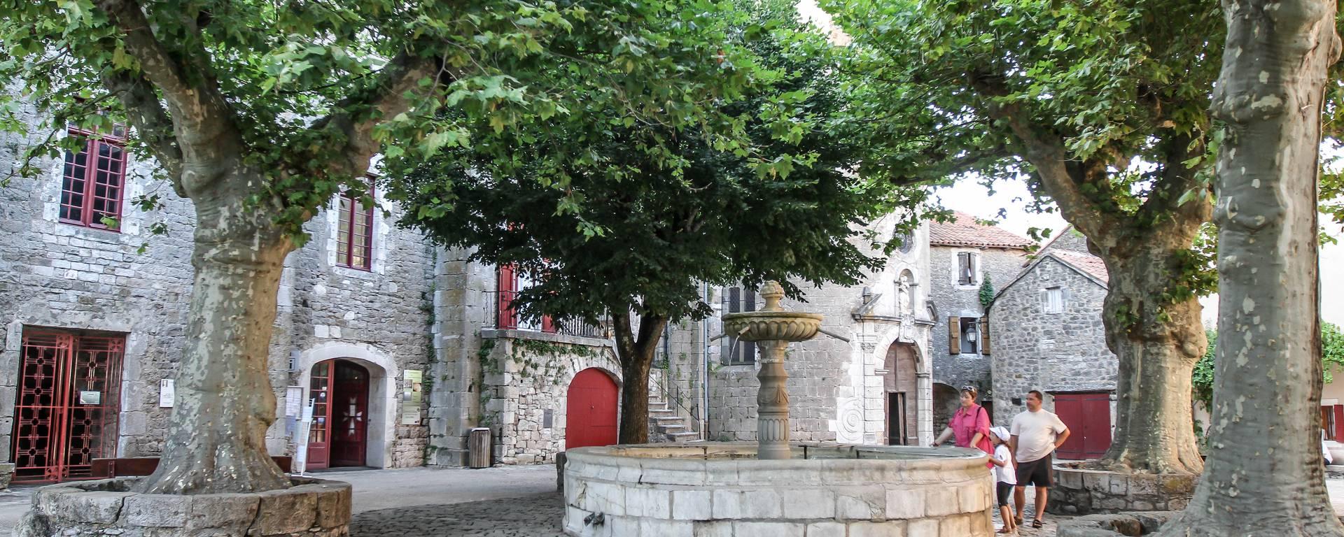 Journée groupe sur le Causse du Larzac, site templier de Sainte Eulalie de Cernon