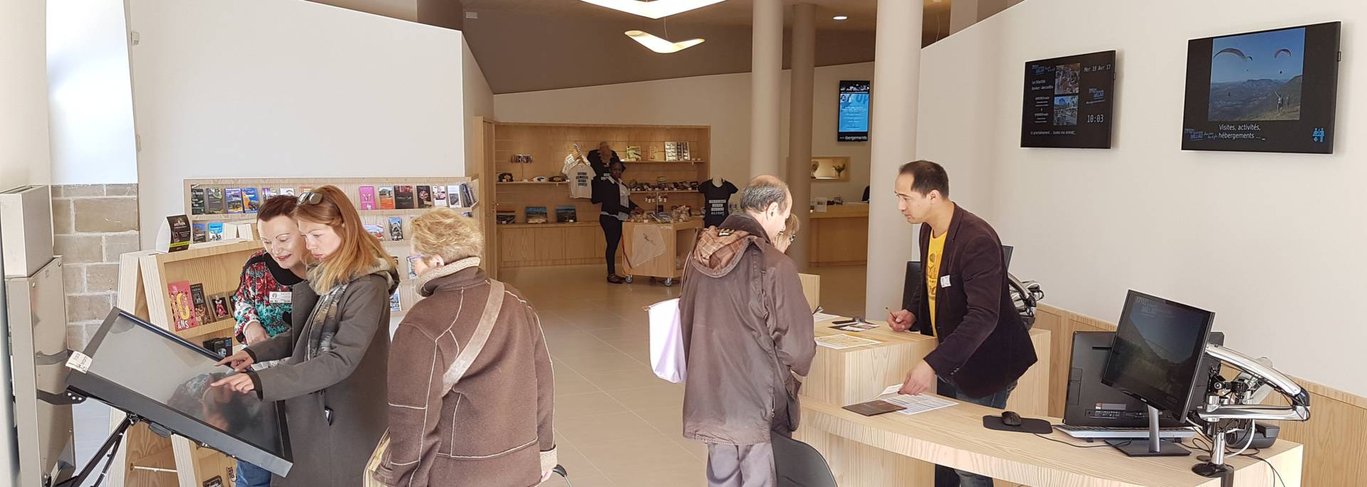 Espace d'accueil de l'Office de tourisme de Millau