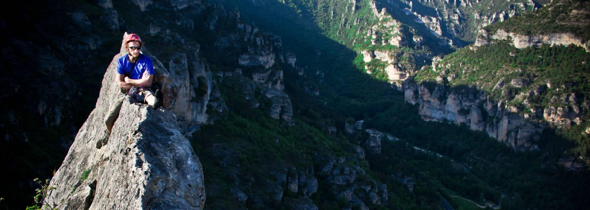 Grande voie facile dans les Gorges du TArn