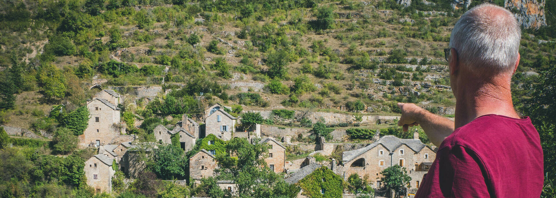 Hameau de Hauterives, rive gauche des gorges du Tarn