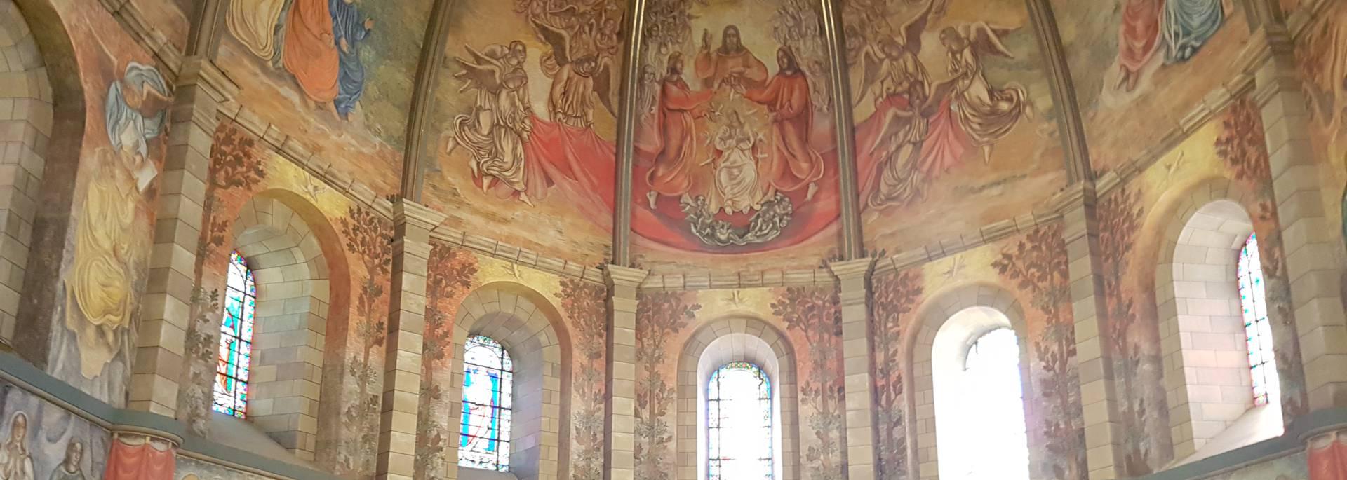 Fresques à l'Eglise Notre Dame de l'Espinasse