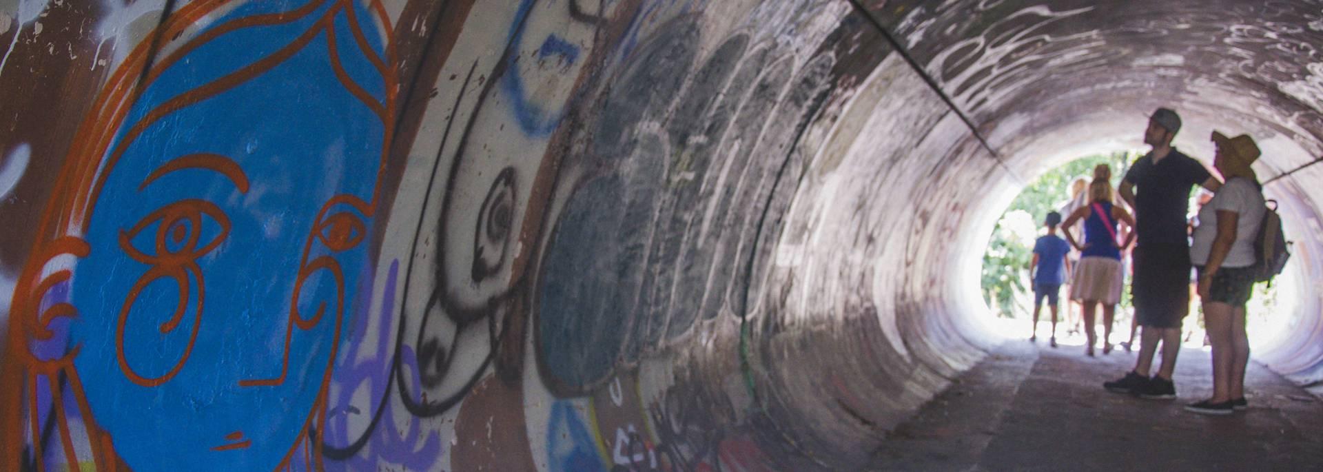 le tunnel des street artistes de Millau