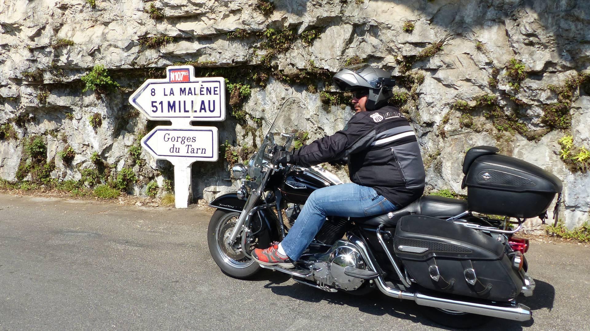 Les gorges du tarn à moto