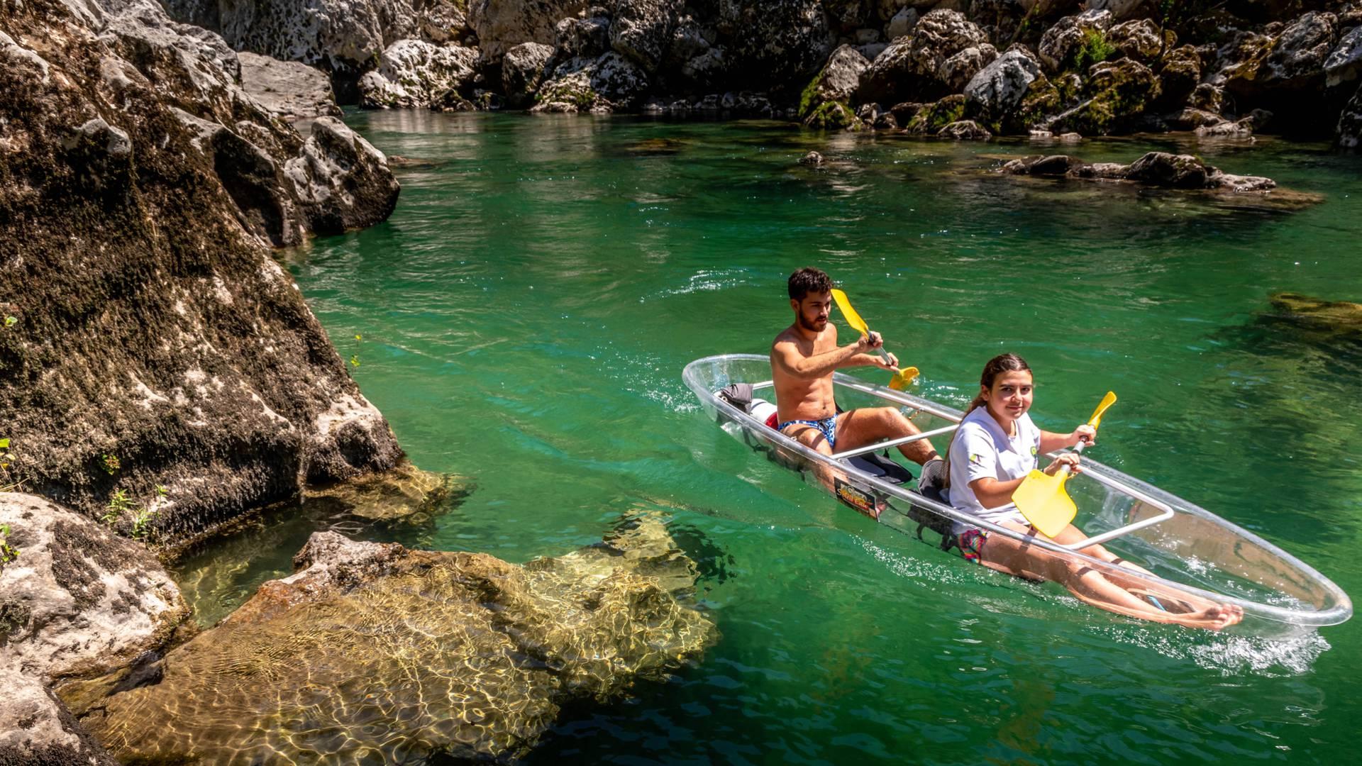 canoe transparent des gorges du tarn