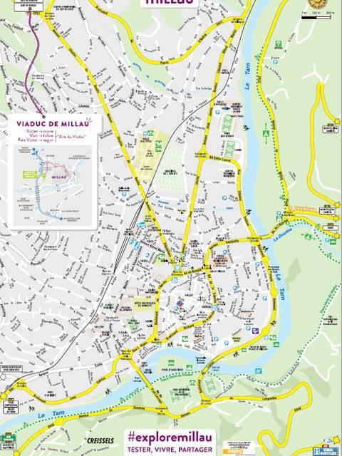 Plan de ville de Millau