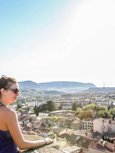 Point de vue du beffroi de Millau
