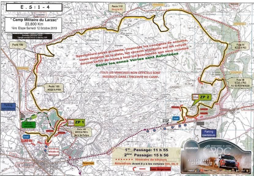 Rallye des Cardabelles - Parcours spéciale 1- Camp militaire du Larzac