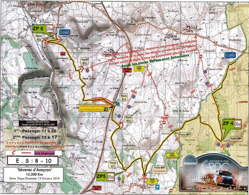 Rallye des Cardabelles_Parcours Spéciale 4 - Sévérac d'Aveyron