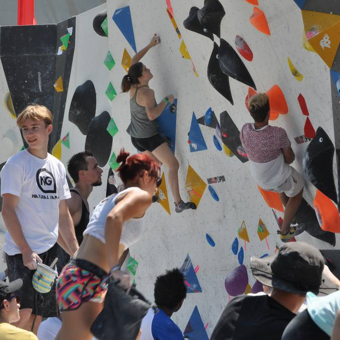 Compétition escalade à Millau