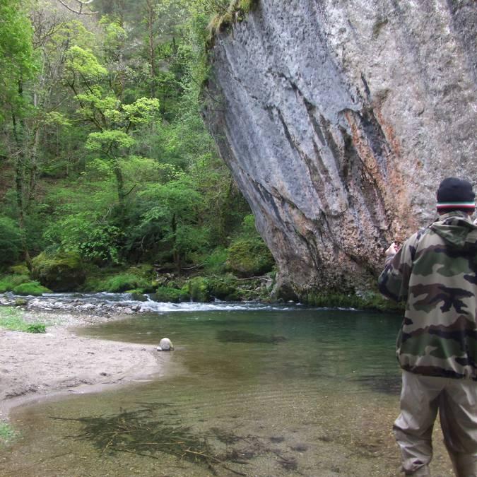 Pêcher dans les gorges