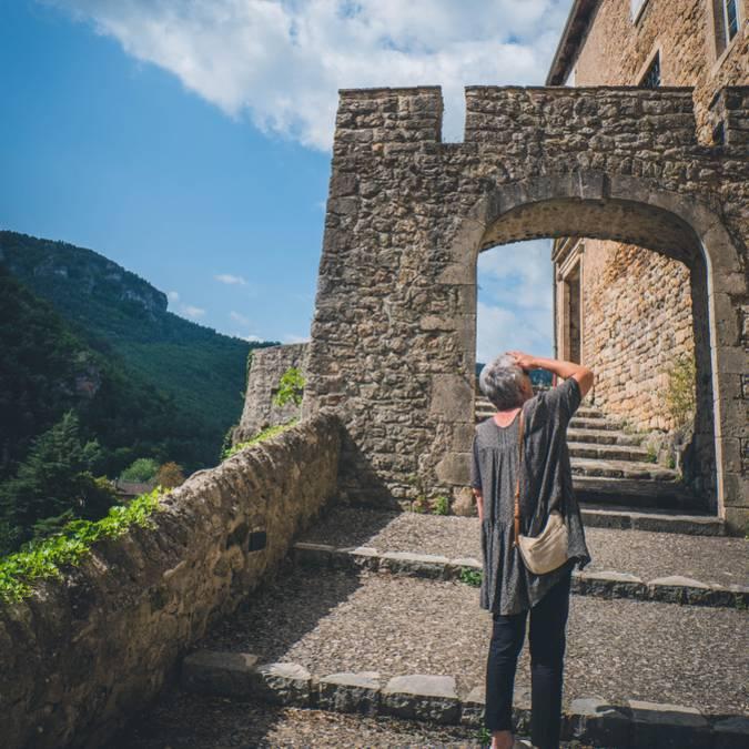 Calade à La Roque-Sainte-Marguerite, gorges de la Dourbie