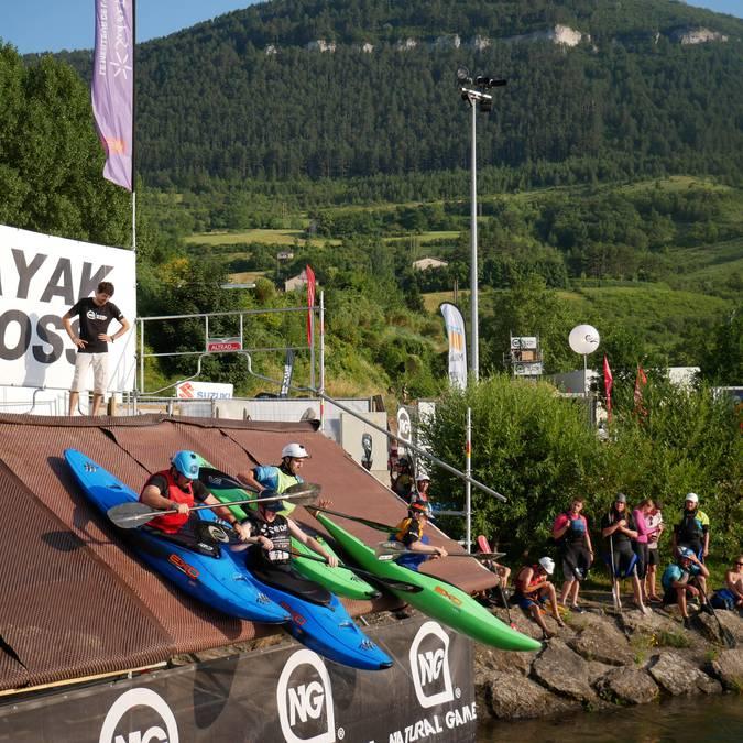 Les kayakistes font le show