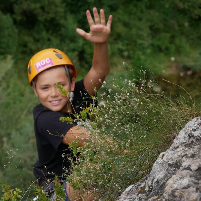 Escalade enfants Gorges du Tarn
