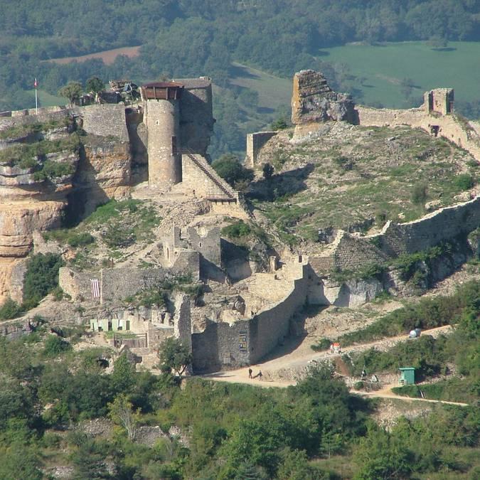 Château de Peyrelade vue du Ciel